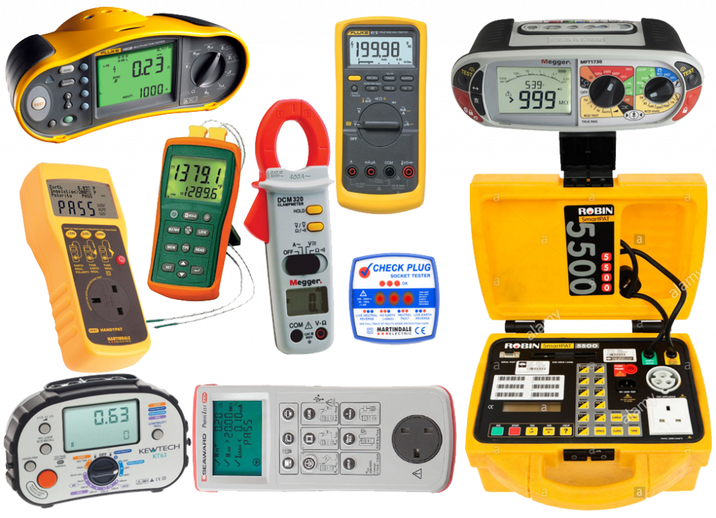 A small sample of the wide range of instruments we calibrate.